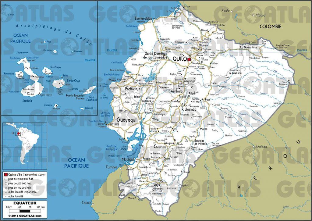 Carte routière de l'Equateur