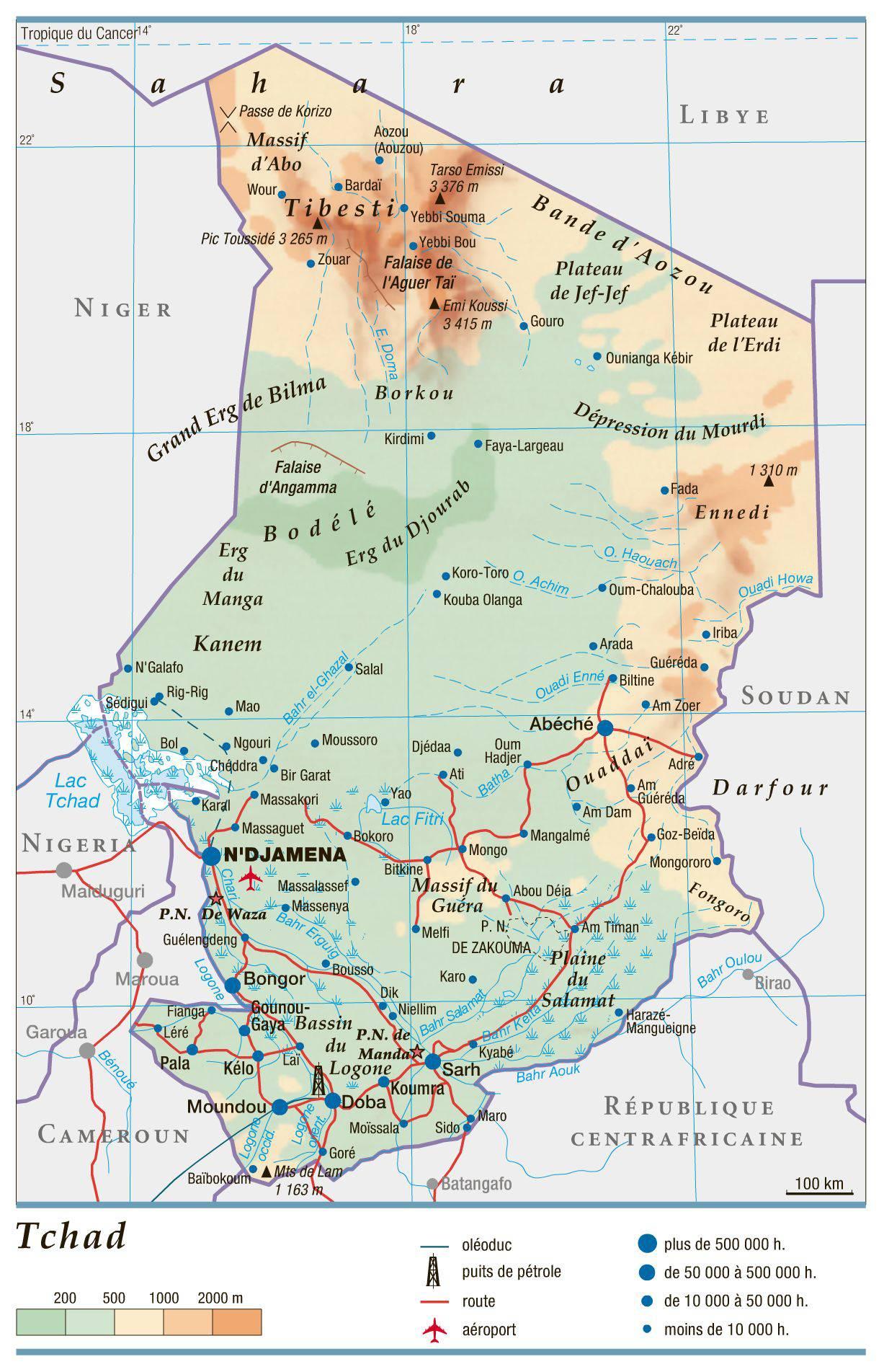 Favori Carte du Tchad - Plusieurs cartes du pays en Afrique DR88