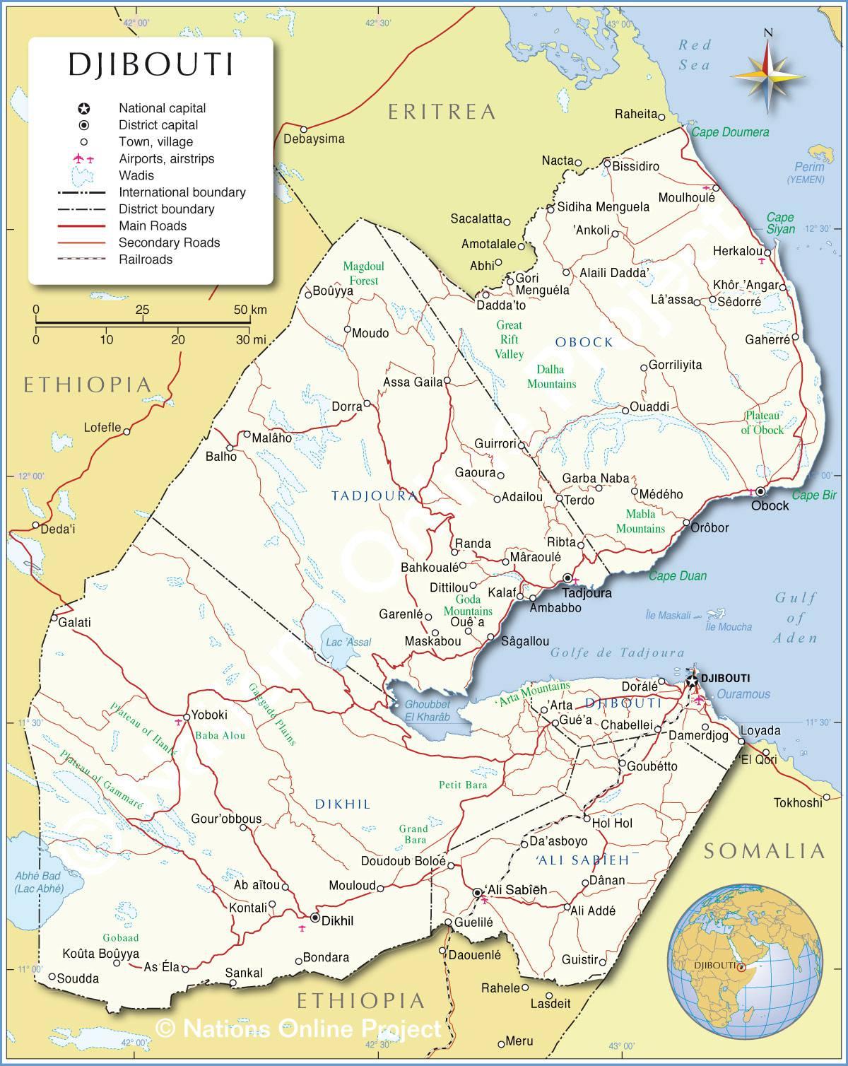 Djibouti carte