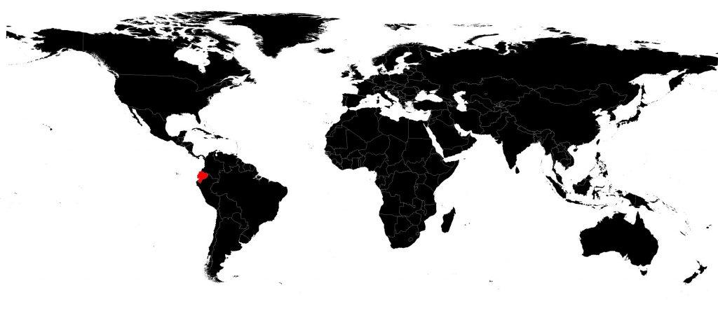 Equateur sur une carte du monde
