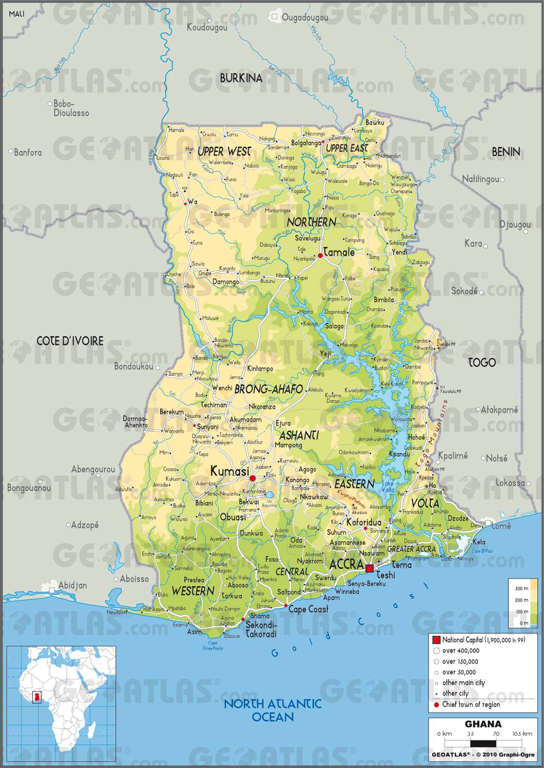 Ghana carte