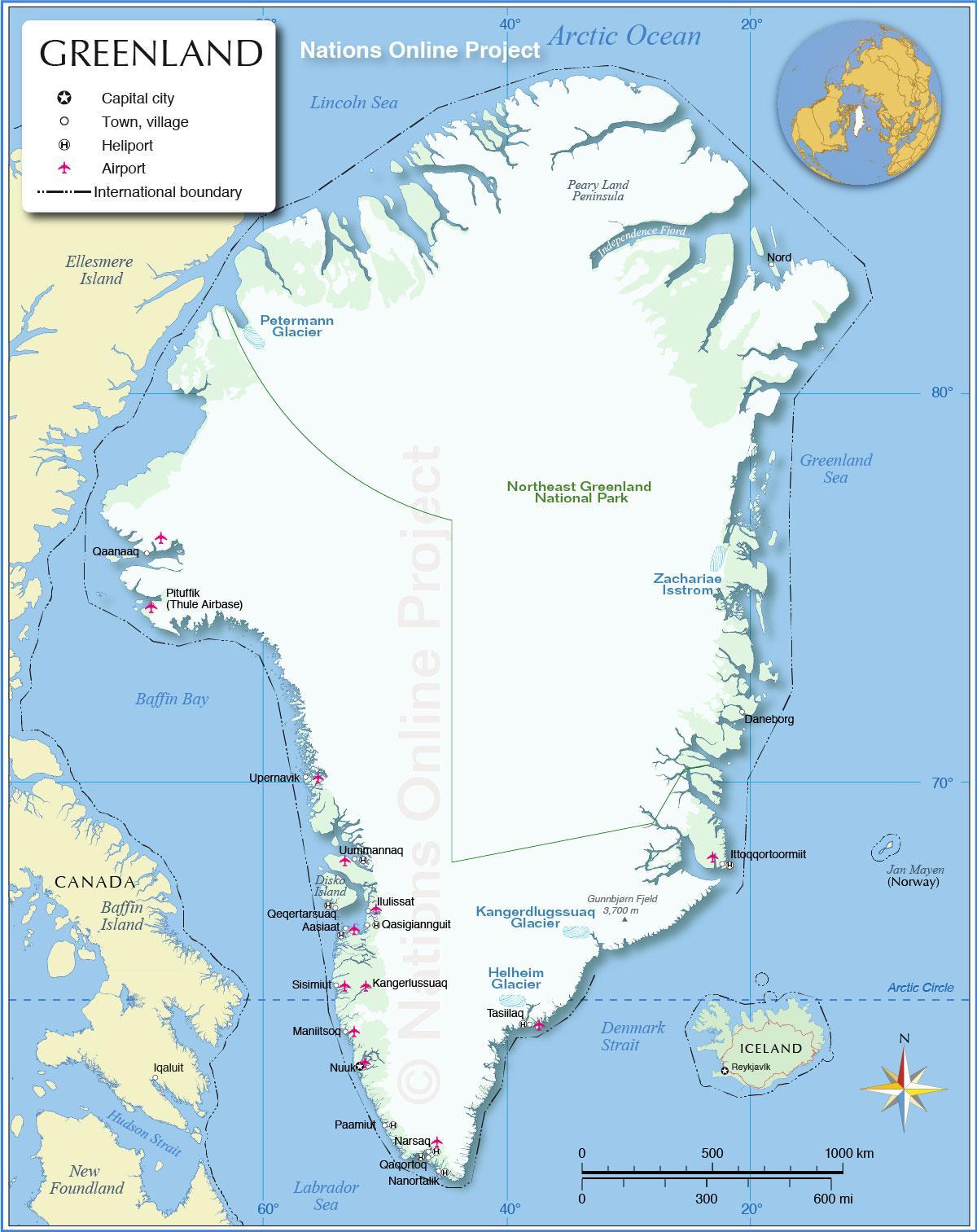 Groenland carte