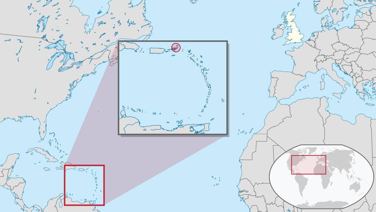 Îles Vierges Britanniques carte de l'Amérique