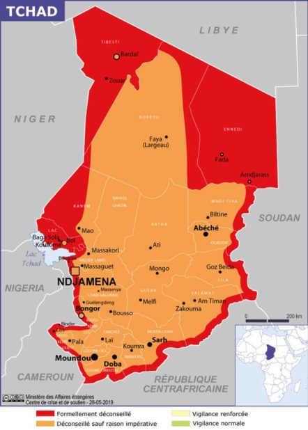 Tchad carte