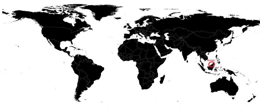 Brunei sur une carte du monde