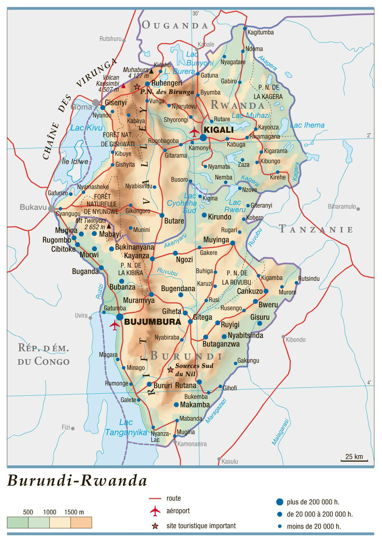 Burundi carte