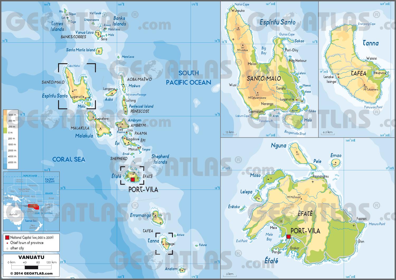 Carte de Vanuatu