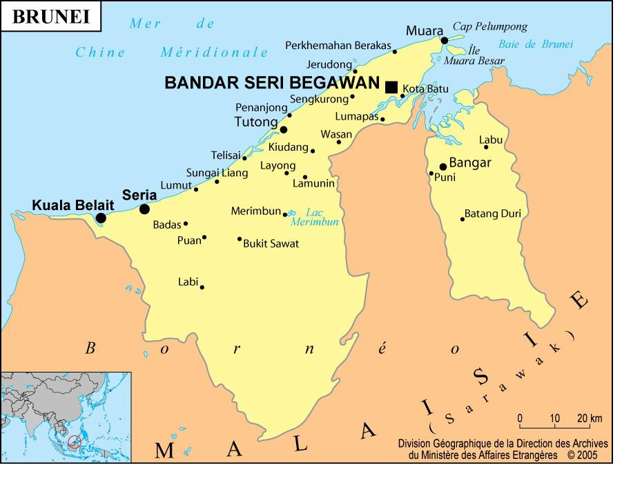 Carte de Brunei
