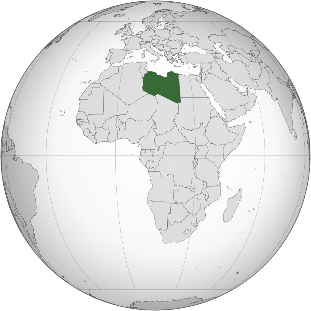 Libye sur un carte de l'Afrique