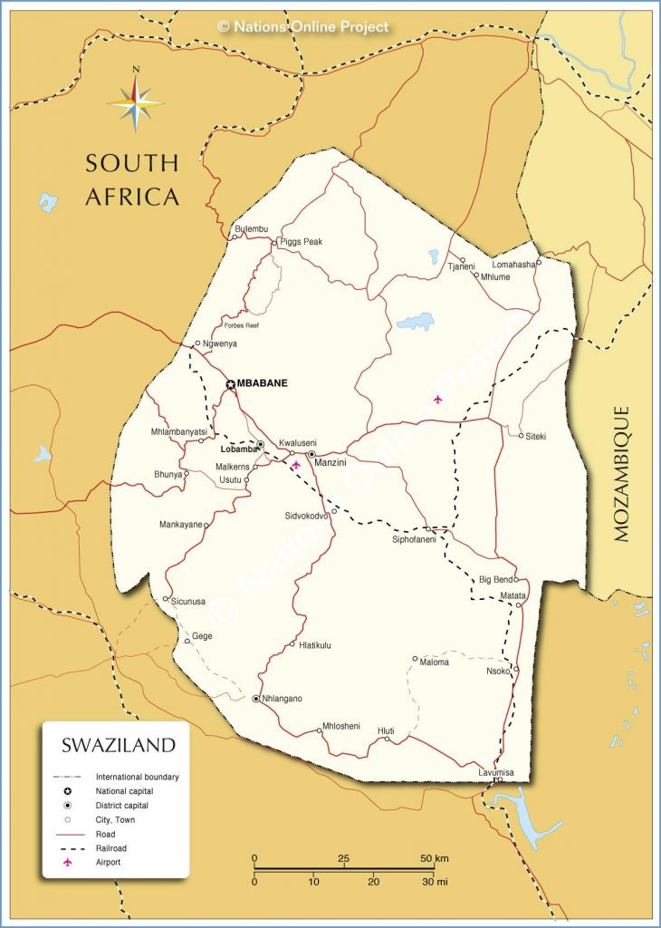 Swaziland carte