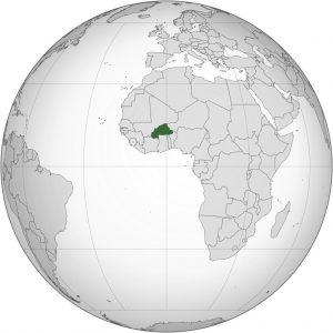 Burkina Faso carte Afrique
