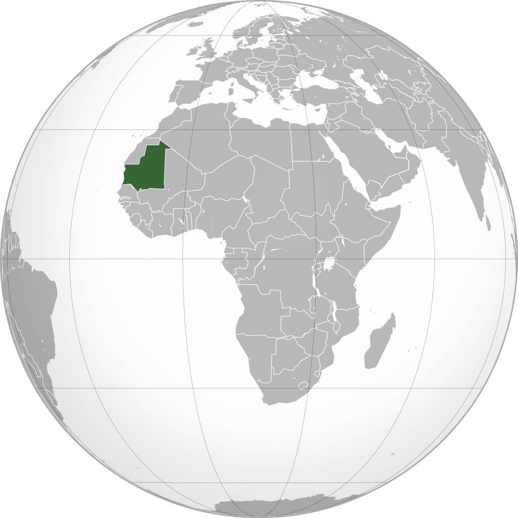 Mauritanie sur une carte de l'Afrique