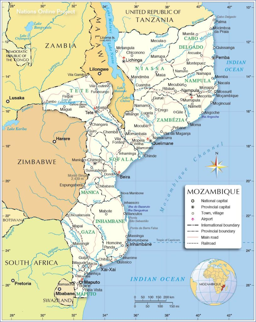 Mozambique carte
