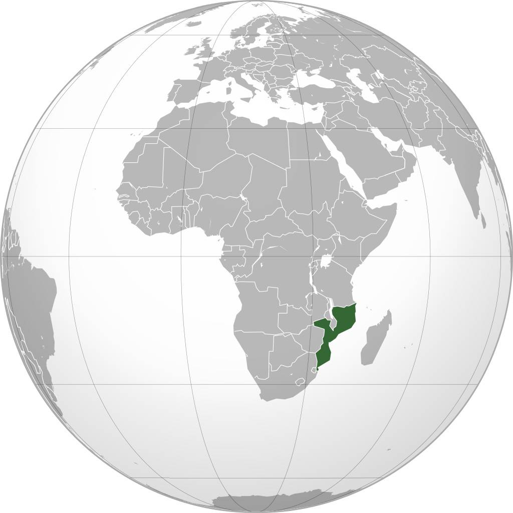 Mozambique sur une carte d'Afrique