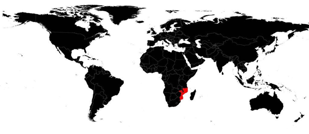 Mozambique carte du monde