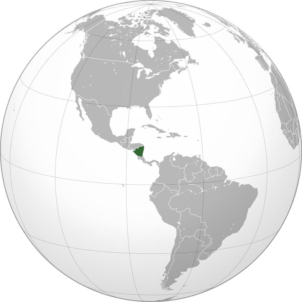 Nicaragua carte Amérique