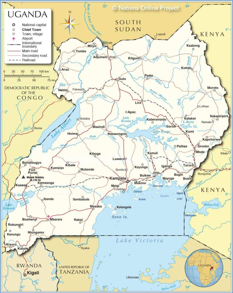 Ouganda carte