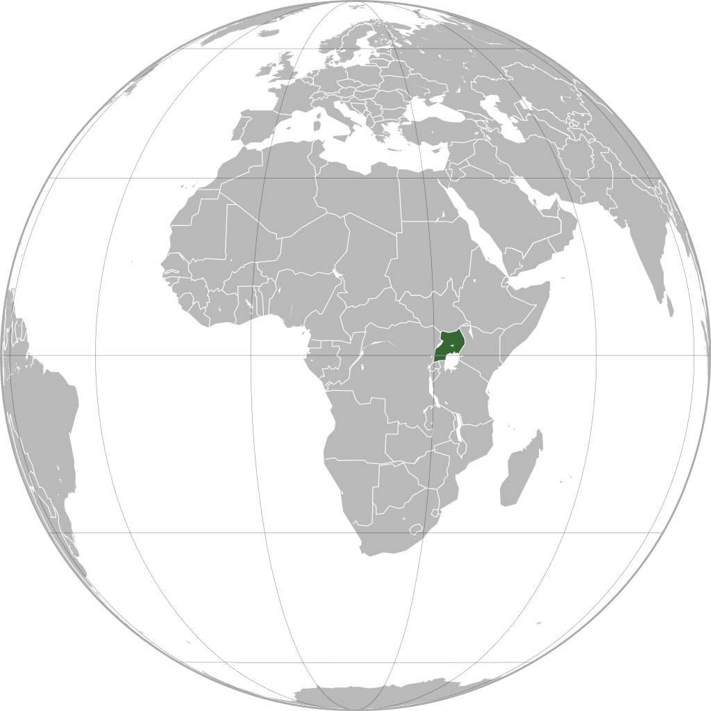Ouganda carte d'Afrique
