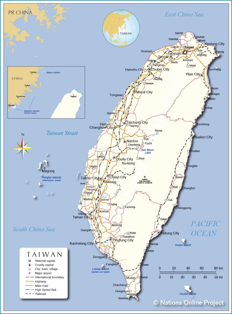Taïwan carte