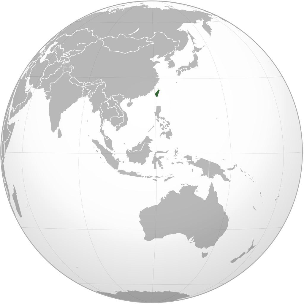 Taïwan carte de l'Asie