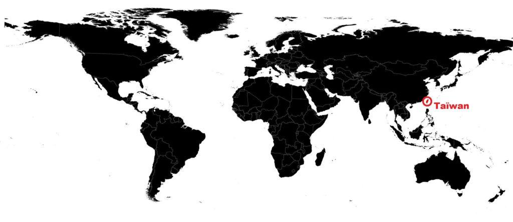 Taïwan carte du monde