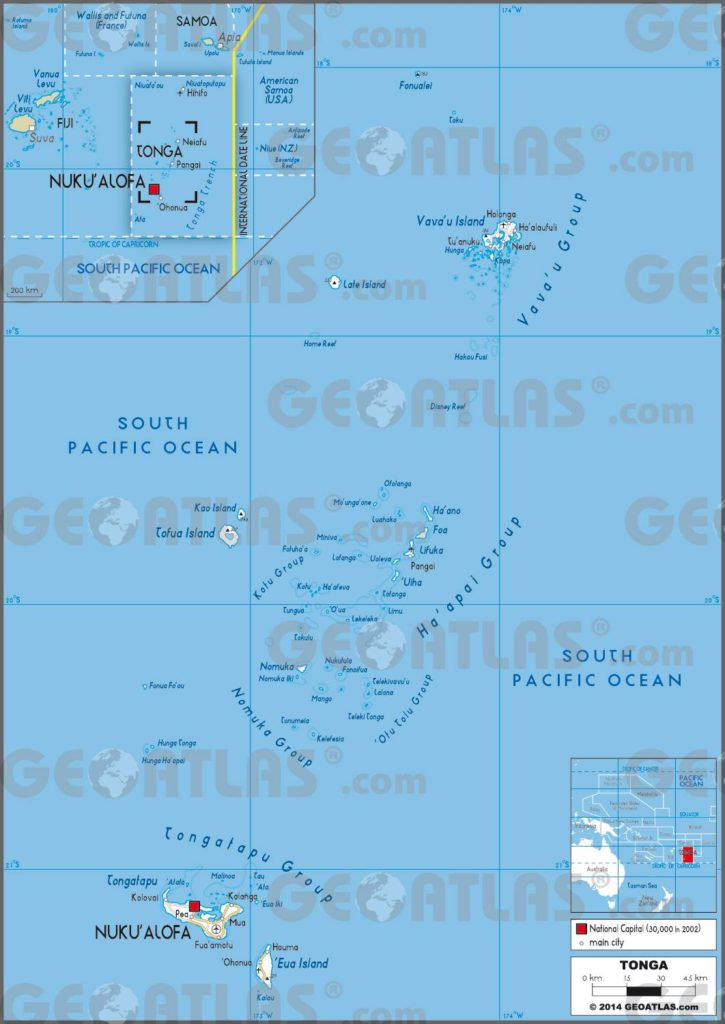 Carte des Tonga