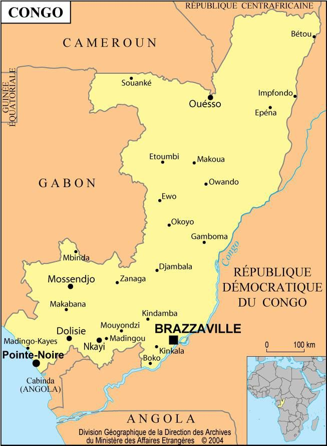 carte du congo brazzaville Carte de la République du Congo   Plusieurs cartes
