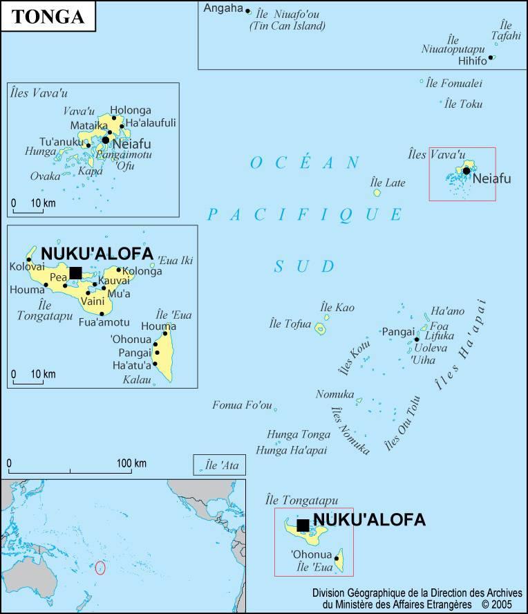îles tonga carte