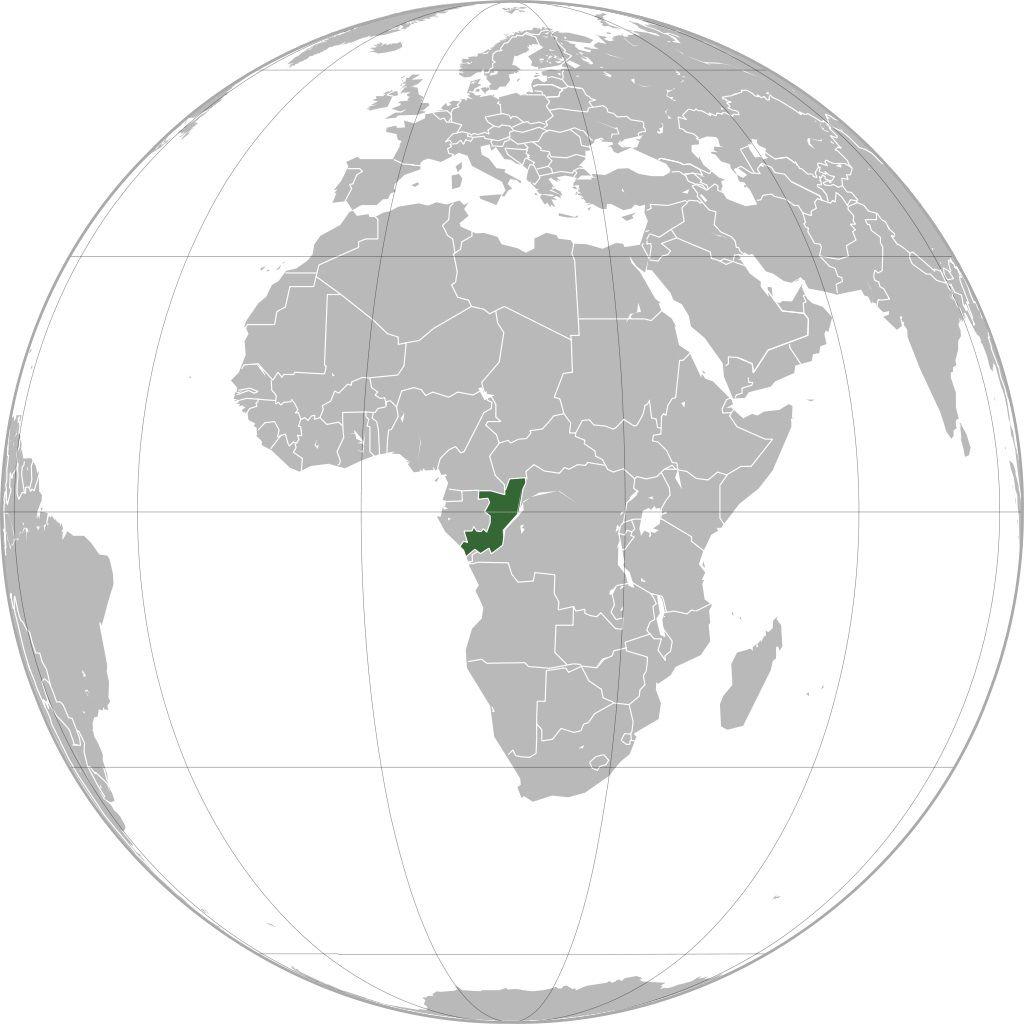 Congo sur une carte d'Afrique