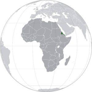 Erythrée carte Afrique