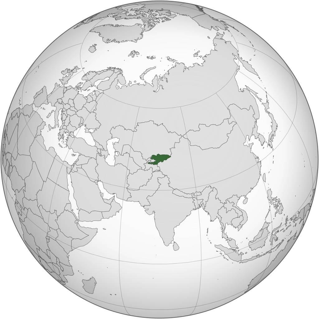 Kirghizistan carte Asie
