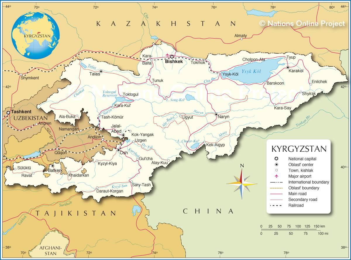 Kirghizistan carte