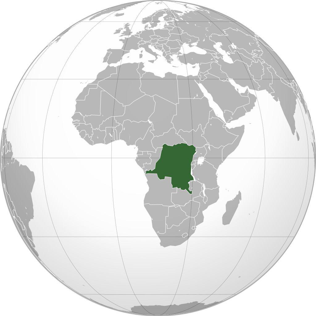 République Démocratique du Congo carte d'Afrique