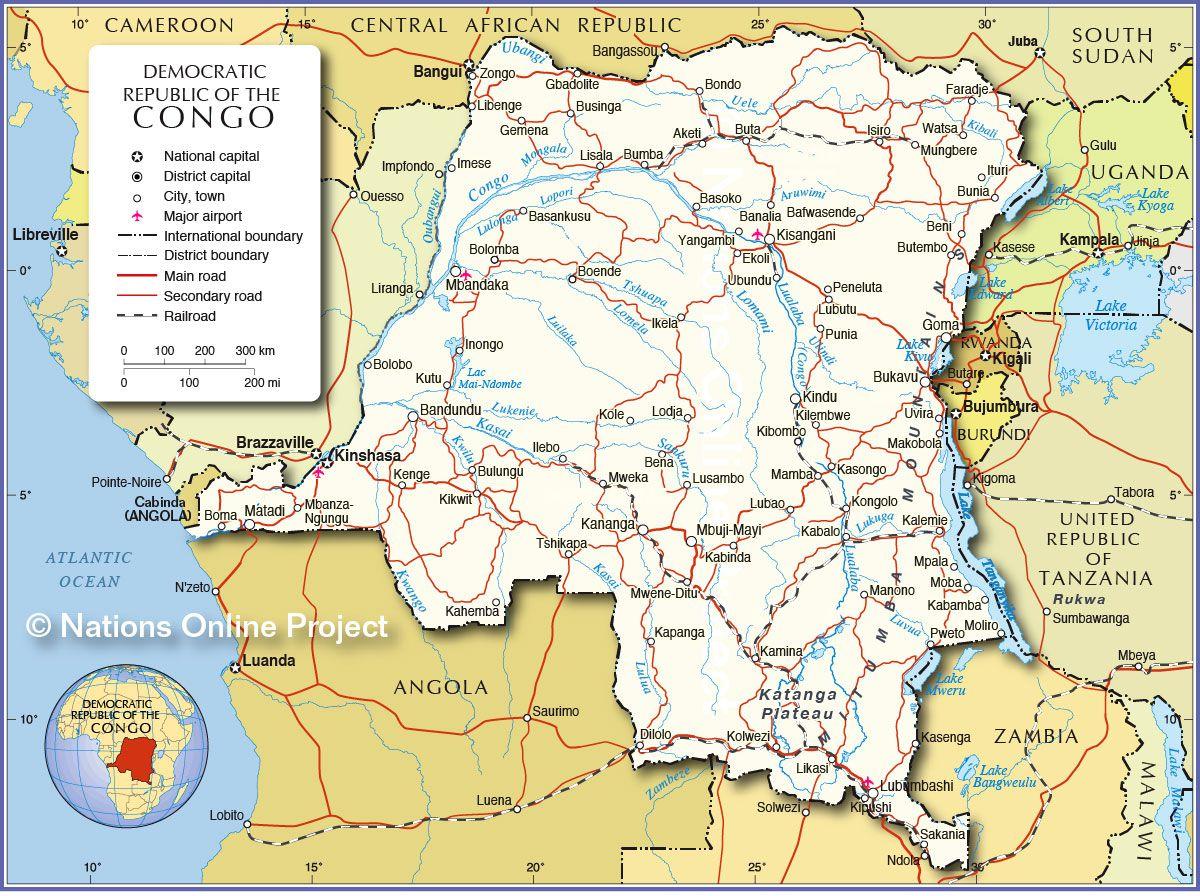 République Démocratique du Congo carte