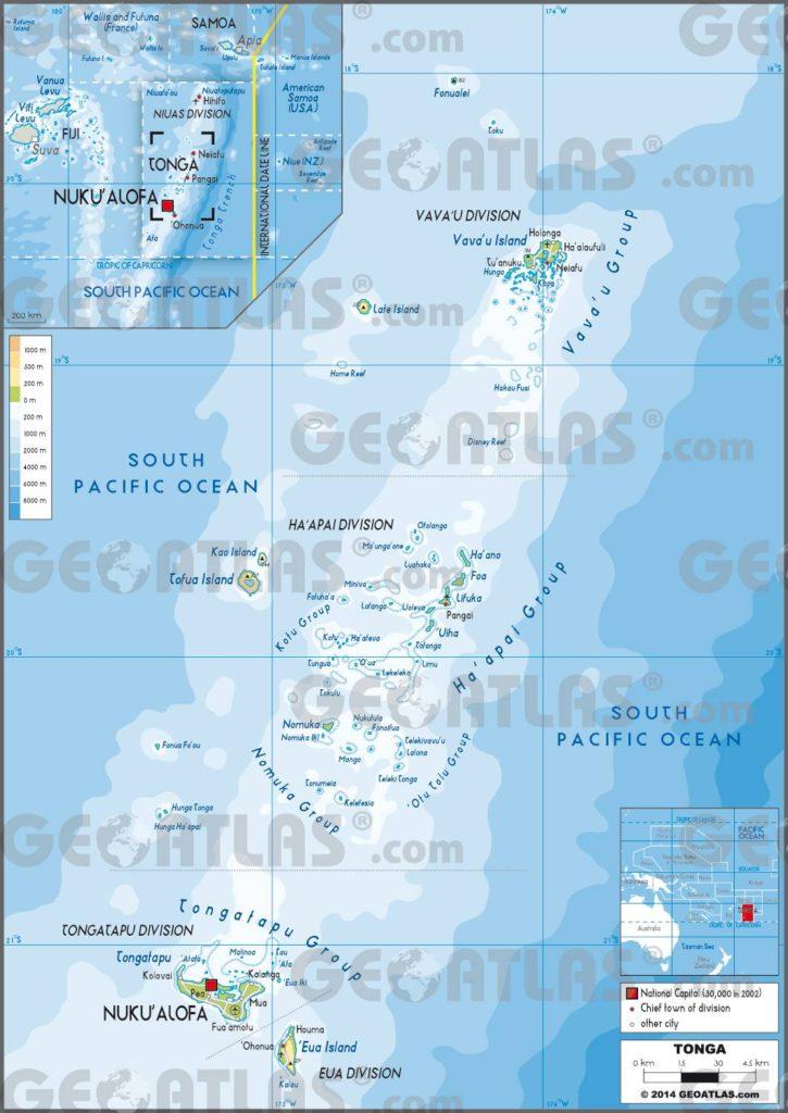 Tonga carte