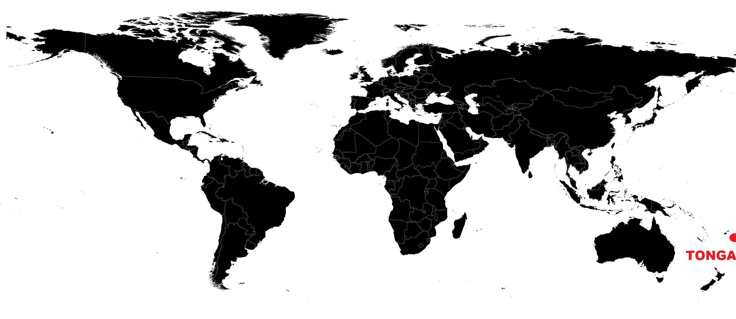 iles tonga carte du monde