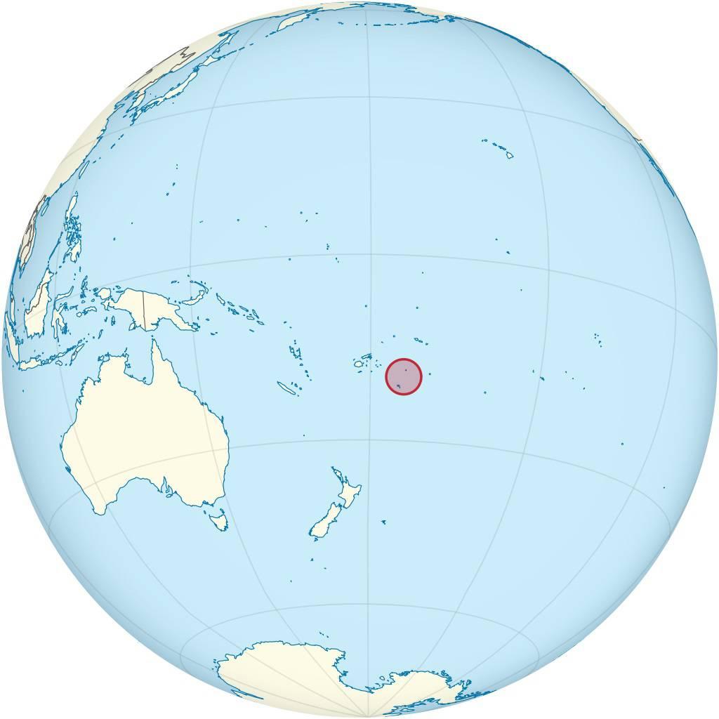 Tonga carte Océanie