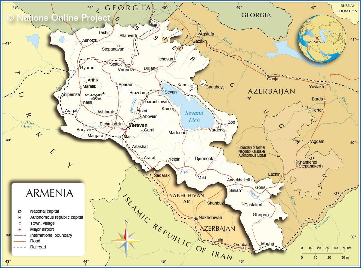 Arménie carte