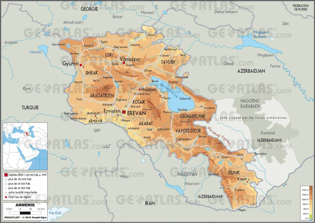 Autre carte de l'Arménie