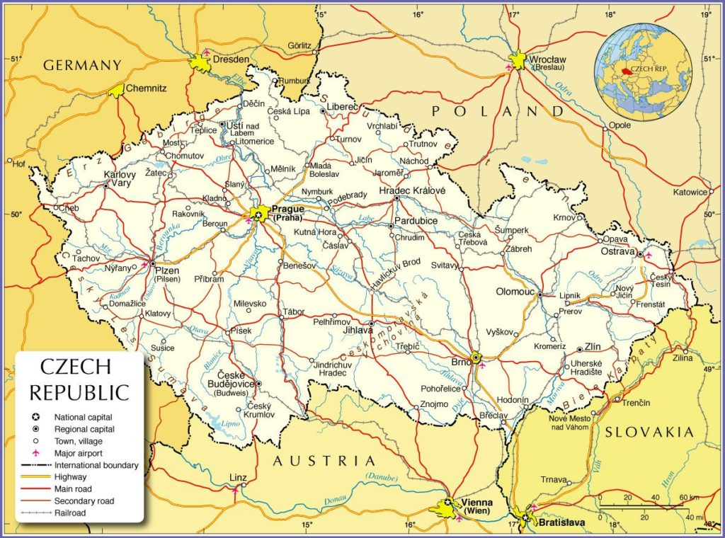 Autre carte de la République tchèque