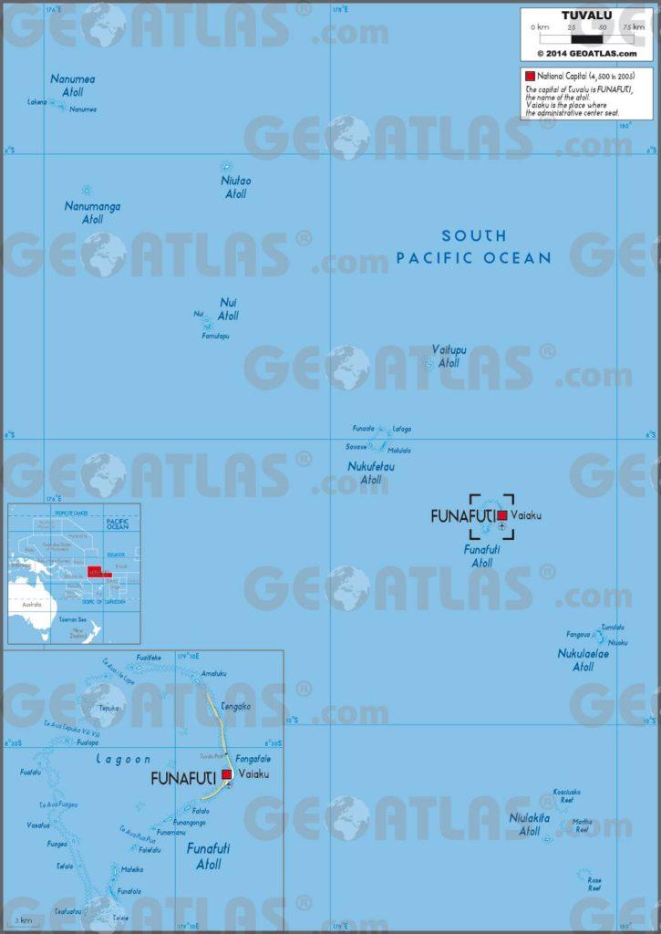 Carte administrative des Tuvalu
