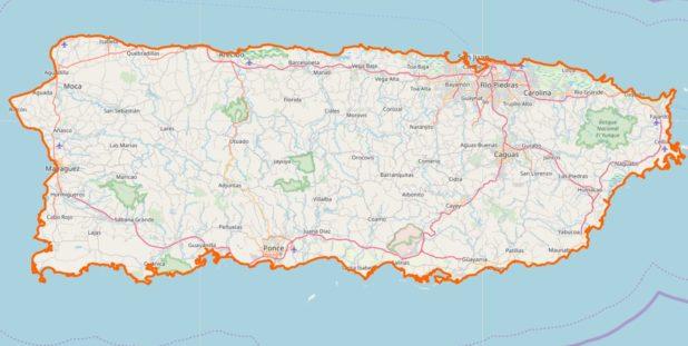 Carte détaillée de Porto Rico