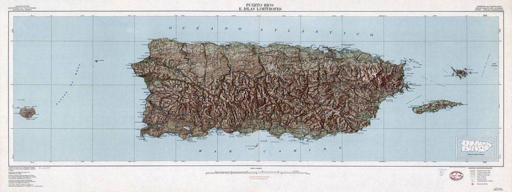 Carte géographique de Porto Rico