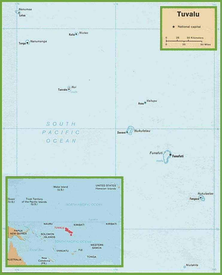 Carte politique des Tuvalu