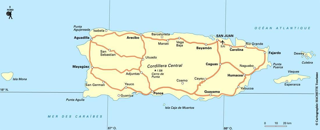 Carte de Porto Rico
