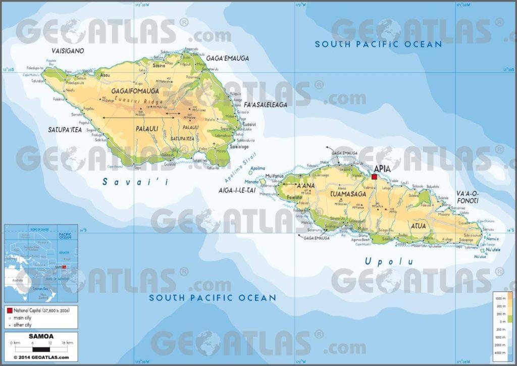 Carte des Samoa