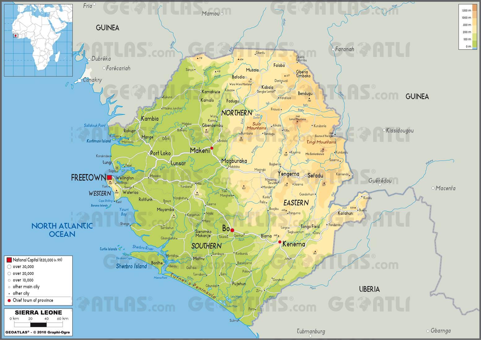Carte de la Sierra Leone