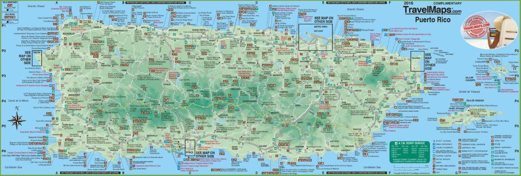 Carte touristique de Porto Rico