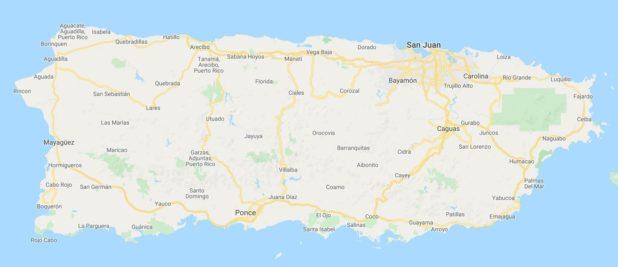 Carte des villes de Porto Rico