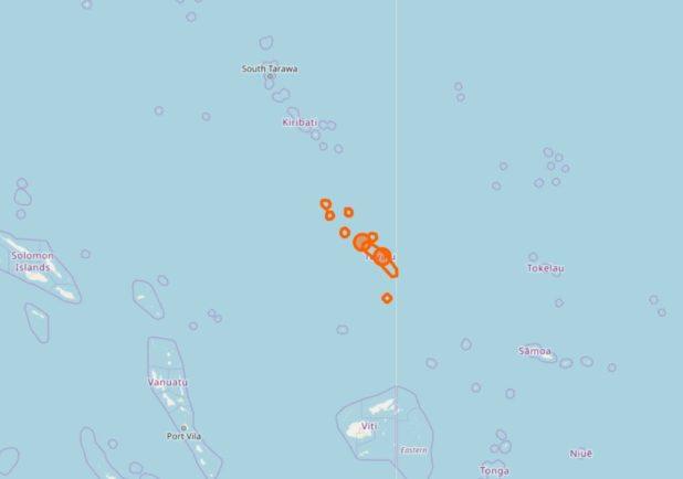 Les îles de Tuvalu